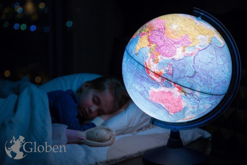 Иллюстрация 1 из 2 для Глобус Земли политический (d400, подсветка) (Ке014000245) | Лабиринт - канцтовы. Источник: Лабиринт