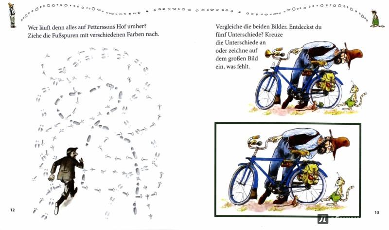Иллюстрация 1 из 11 для Pettersson & Findus. Knifflige Labyrinthe und Suchbilder - Christian Becker | Лабиринт - книги. Источник: Лабиринт