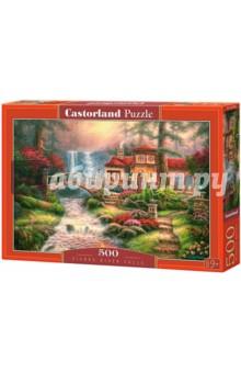 Купить Puzzle-500 Дом у водопада (B-52202), Castorland, Пазлы (400-600 элементов)