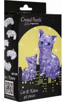 3D головоломка Кошка серебристая (90126) пазлы crystal puzzle 3d головоломка вулкан 40 деталей