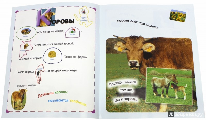 Иллюстрация 1 из 48 для Читай, играй, наклеивай. В деревне | Лабиринт - книги. Источник: Лабиринт