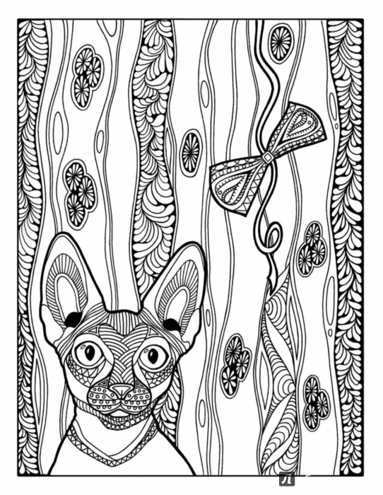 Иллюстрация 1 из 43 для Раскраска-зендудл. Кототерапия - Янина Миронова | Лабиринт - книги. Источник: Лабиринт