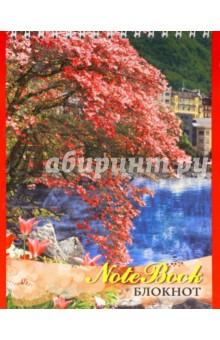 """Блокнот 48 листов, А5, гребень """"Весенний пейзаж"""" (С0712-34)"""