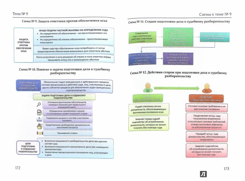 Иллюстрация 1 из 9 для Гражданский, арбитражный и административный процесс в схемах с комментариями - Князькин, Юрлов | Лабиринт - книги. Источник: Лабиринт