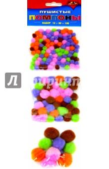 """Пушистые помпоны """"Ассорти"""" (160 штук) (С2579-01)"""