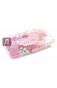 Набор акриловых бусинок розовый (57505)