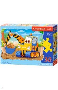 Купить Puzzle-30 MIDI Экскаватор (В-03464), Castorland, Пазлы (12-50 элементов)
