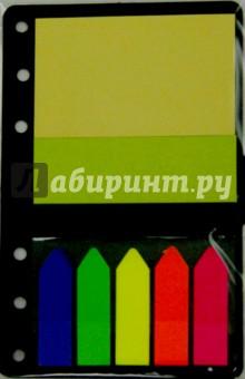 Закладка 5 цветов по 20 листов 12х48 мм + 2 блока: 51 х 76 мм, 26 х 76 мм (0993/07056)