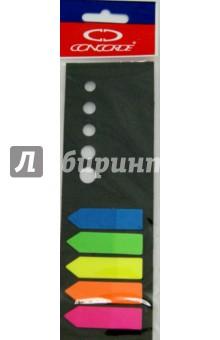 Закладка 5 цветов по 20 листов - 12х48 мм, стрелка (0995/45501)