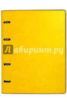 Тетрадь (80 листов, на кольцах, клетка, Желтая+ Коричневая) (37932-10) тетрадь со сменным блоком 120 листов клетка blue 83329
