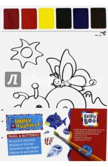 Набор для раскрашивания акварелью Улитка и бабочка (58573) kribly boo набордляраскрашивания