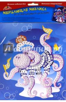 Мозаика мерцающая самоклеящаяся Осьминожек, А5 (С2420-03) апплика мозаика мерцающая осьминоже