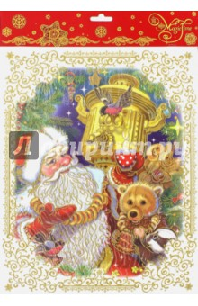 Украшение новогоднее оконное (38627) новогоднее оконное украшение феникс презент обезьянки