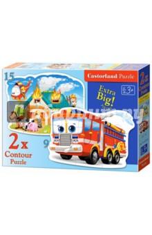 Puzzle-9*15 Пожарная команда (В-020058) мозаика miniland 15 мм 160 элементов 6 картинок 31805