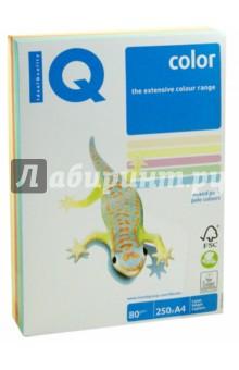 Бумага для печати IQ COLOR MIX PALE, 5 цветов, 250 листов (RB01)