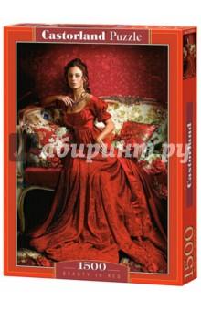 Puzzle-1500 Девушка в красном (C-151370) puzzle 1500 лондон c 151271