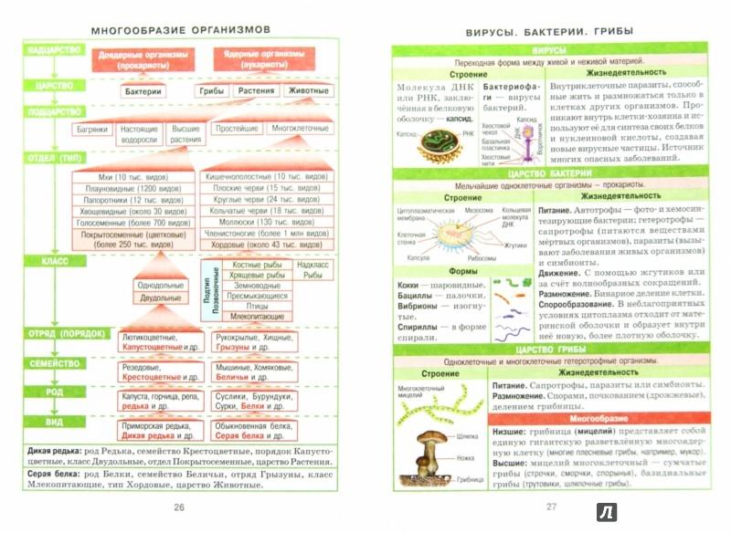 Таблицах шпаргалки по биологии в
