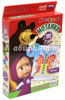 """Мозаика """"Маша и Медведь"""" 100 элементов, D 15 мм (GT8677)"""