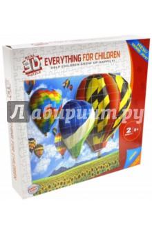 Пазл бумажный объемный 3D Воздушные шары, 60х45 см (TZ 12732) пазлы magic pazle объемный 3d пазл эйфелева башня 78x38x35 см