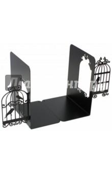 Подставка-ограничитель для книг Клетка для птиц (2 штуки) (40927)