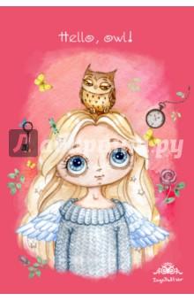 Блокнот Ангел. Hello, owl!, А6+ блокноты фолиант блокнот гимнастки
