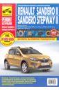 Обложка Renault Sandero II/Sandero Stepway II. Выпуск с 2014 г. Бензиновые двигатели
