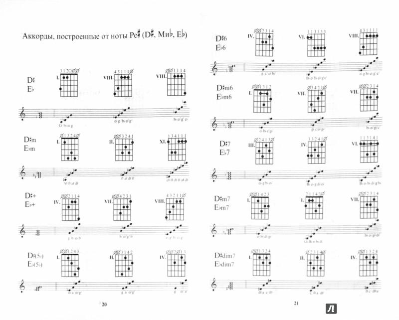Иллюстрация 1 из 14 для Таблицы гитарных аккордов. Обозначение. Построение - Владимир Катанский   Лабиринт - книги. Источник: Лабиринт