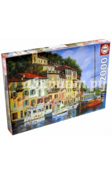 Пазл-2000 Красная лодка, Гвидо Борелли (16776) пазл замок хоэншвангау 2000 деталей 27053