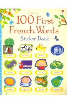 100 First French Words Sticker Book waterproof russian keyboard stickers english french letter alphabet layout sticker for laptop desktop computer