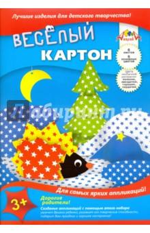 """Цветной картон веселый двусторонний мелованный """"Звездочки"""" (6 листов, 6 цветов) (С0151-03) АппликА"""