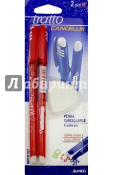 Набор ручка шариковая, 2 штуки ПИШИ-СТИРАЙ, красный (041702) ручки fila tratto cancellik шариковая ручка пиши стирай черная 2 шт в блистере ластик