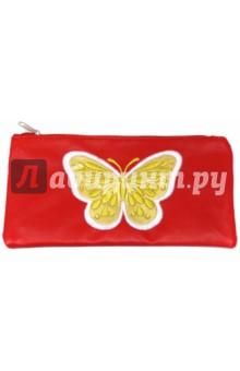 """Пенал школьный """"Бабочка на красном"""" (40495-25) Феникс+"""
