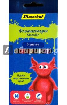 """Фломастеры Metallic """"Джинсовая коллекция"""" (6 цветов) (867212-06)"""