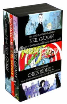 Neil Gaiman & Chris Riddell 3-book Box Set qunlong 0521 my world volcano mine building blocks toy compatible legoe minecraft building block city educational boys toy gift