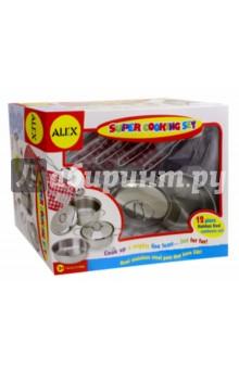 Набор кухонной посуды Супер кулинар (603N) ролевые игры alex набор кухонной посуды из нержавеющей стали все для повара