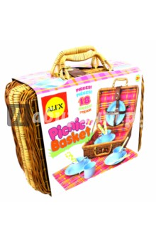 Плетеный чемоданчик для пикника. Набор из 18 предметов (708N) alex alex посуда игрушечная chasing butterflies ceramic tea set поймай бабочку 13 предметов