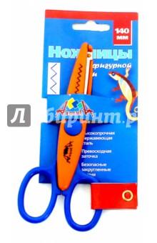 Купить Ножницы, 14 см, фигурные лезвия ЗУБЦЫ (С0517-01), АппликА, Сопутствующие товары для детского творчества