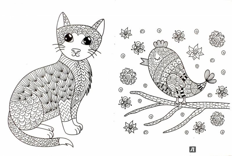 Иллюстрация 1 из 42 для Кошкин дом. Раскраска для взрослых ...
