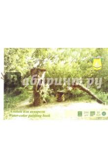 Альбом для акварели Лес (10 листов, А3, на завязках) (АА3Л) палаццо папка для акварели флора а3 10 листов