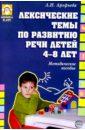 Лексические темы по развитию речи детей 4-8 лет: Методическое пособие, Арефьева Лариса