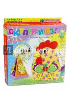 Купить Набор для детского творчества. Декорирование Весёлый петух (АБ 41-556), Клевер, 3D модели из бумаги