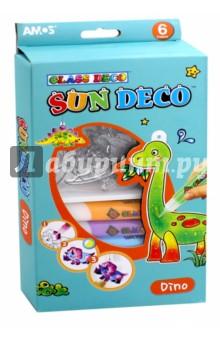 Набор витражных красок с витражами Динозавры (22928) набор витражных красок с витражами мобиле 10 цветов 22250