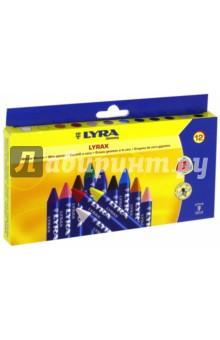 Карандаши восковые (12 цветов) (L5701120) crown карандаши восковые 20 цветов выкручивающийся стержень