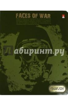 """Тетрадь 48 листов, клетка """"МИЛИТАРИ"""", 5 видов (7-48-879) Альт"""