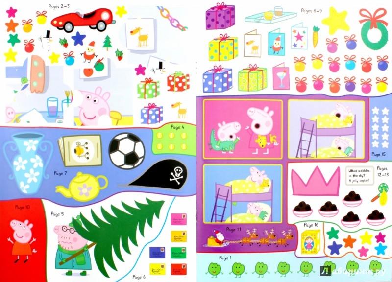 Иллюстрация 1 из 12 для Peppa Pig. Peppa's Christmas. Sticker Book | Лабиринт - книги. Источник: Лабиринт