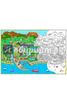 Сочи. Карта-раскраска раскраска город
