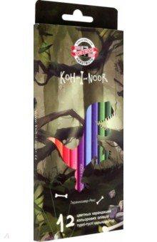 Карандаши Dino (12 цветов) (3592/12) карандаши цветные пластиковые albion 48 цветов