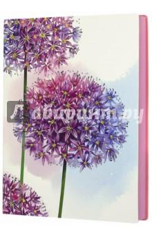 Ежедневник недатированный Сиреневые цветы (срез розовый, А6+) (42588) желай делай ежедневник