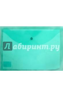 Папка-конверт с кнопкой. А4. Зеленая (225171)