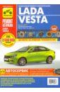 Обложка Lada Vesta бензин с 2015 г.в., руководство по ремонту, электросхемы, инструкция по эксплуатации